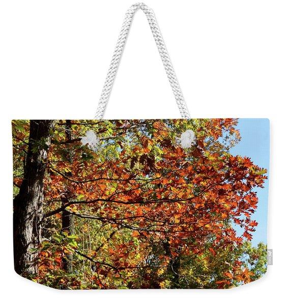 Turning Color Weekender Tote Bag