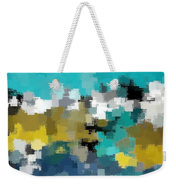 Turquoise And Gold Weekender Tote Bag