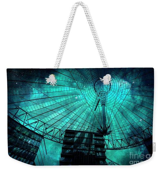 Turquoise Cosmic Berlin Weekender Tote Bag