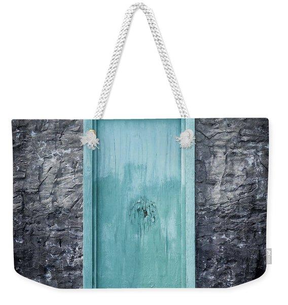 Turquoise Door Weekender Tote Bag