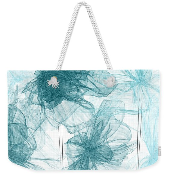 Turquoise In Sync Weekender Tote Bag