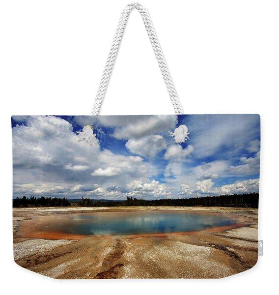 Turquoise Pool Weekender Tote Bag