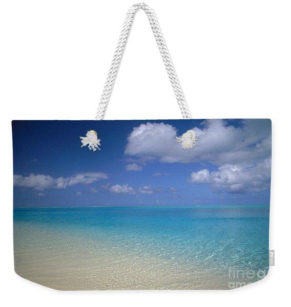Turquoise Shoreline Weekender Tote Bag