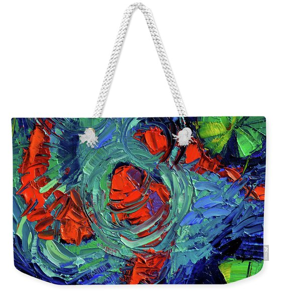 Turquoise Swirls Weekender Tote Bag