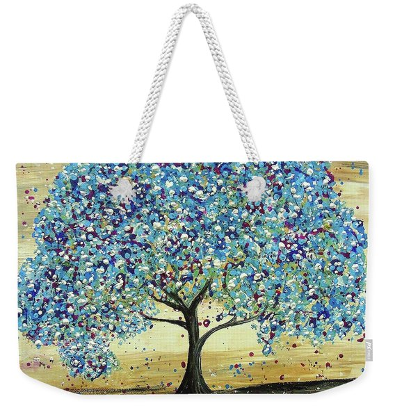 Turquoise Tree Weekender Tote Bag