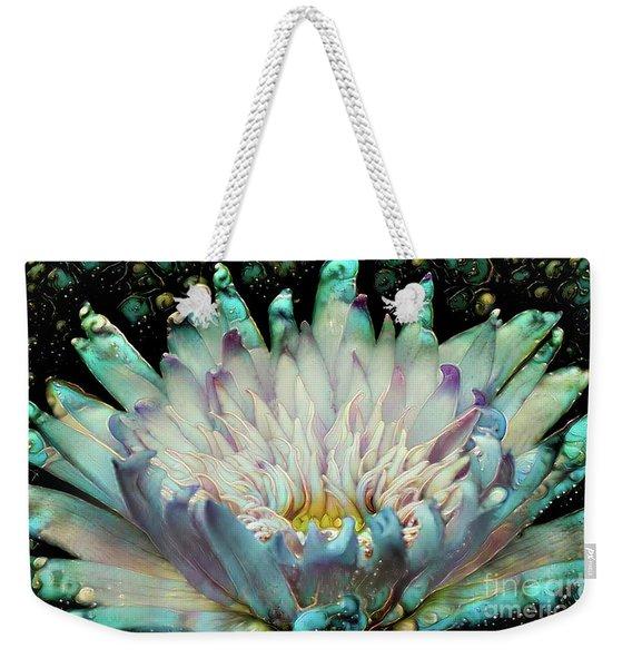 Turquoise Waterlilies 5 Weekender Tote Bag