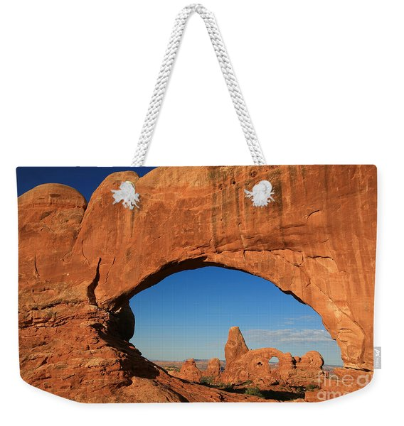 Turret Arch Through North Window  Weekender Tote Bag
