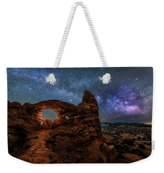 Turret Arch Under The Milky Way Weekender Tote Bag