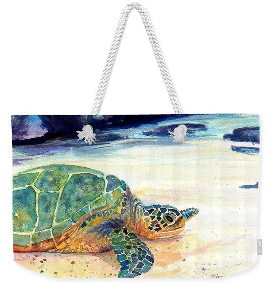 Turtle At Poipu Beach 5 Weekender Tote Bag