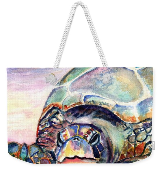 Turtle At Poipu Beach Weekender Tote Bag