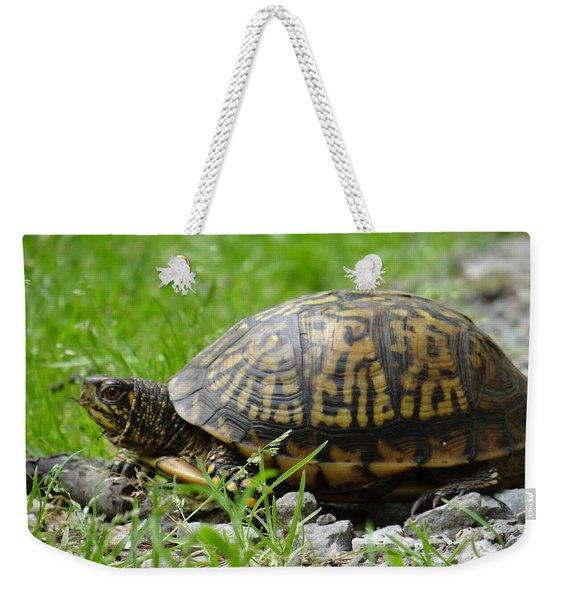 Turtle Crossing Weekender Tote Bag