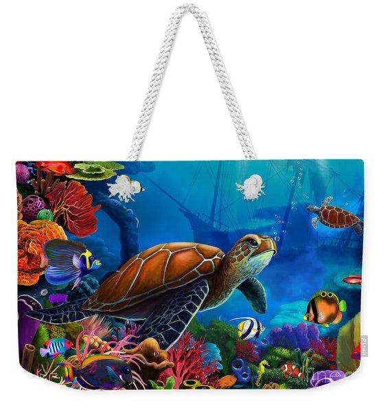Turtle Domain Weekender Tote Bag