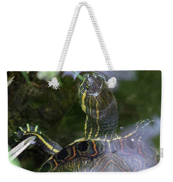 Turtle Getting Some Air Weekender Tote Bag