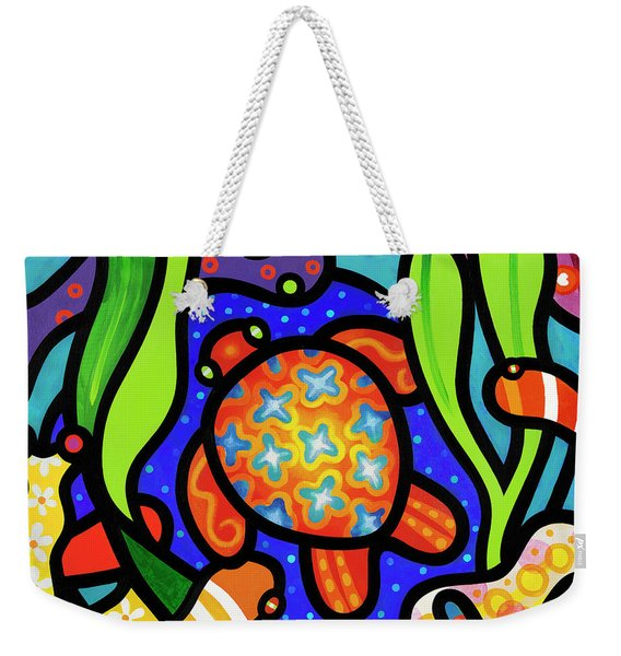 Turtle Reef Weekender Tote Bag
