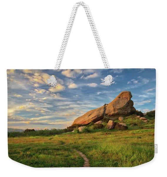 Turtle Rock At Sunset Weekender Tote Bag