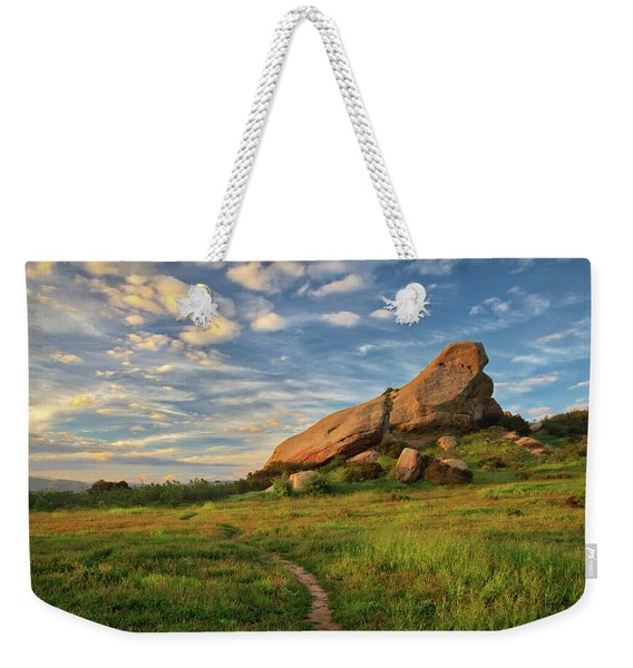 Turtle Rock At Sunset Weekender Tote Bag