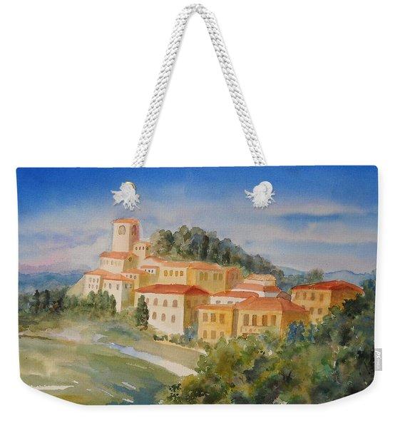 Tuscan Hilltop Village Weekender Tote Bag