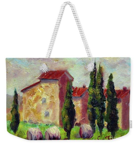 Tuscan House With Hay Weekender Tote Bag