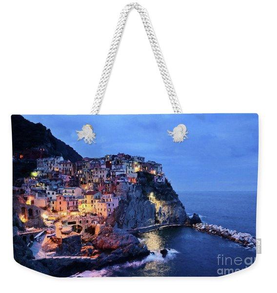 Tuscany Like Amalfi Cinque Terre Evening Lights Weekender Tote Bag