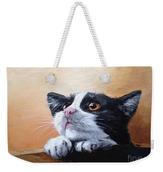 Tuxedo Weekender Tote Bag