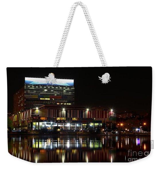 Tv Center Weekender Tote Bag