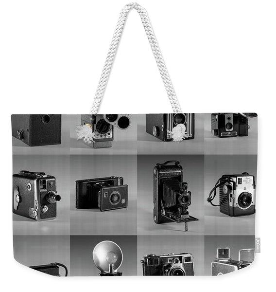 Twenty Old Cameras - Black And White Weekender Tote Bag