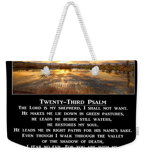 Twenty-third Psalm Prayer Weekender Tote Bag