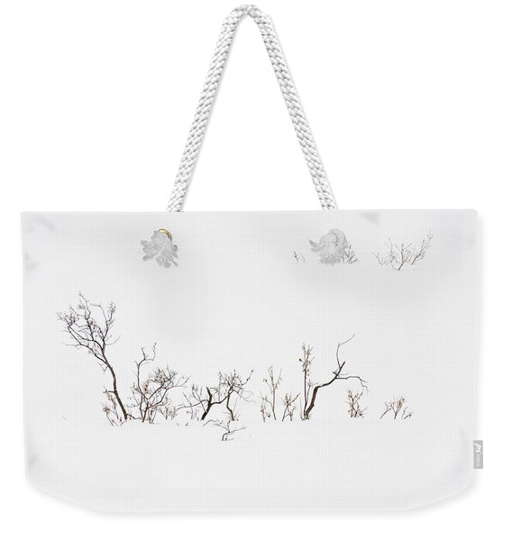 Twigs In Snow Weekender Tote Bag