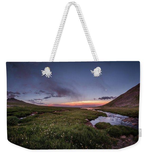 Twilight Alpine Stream Weekender Tote Bag