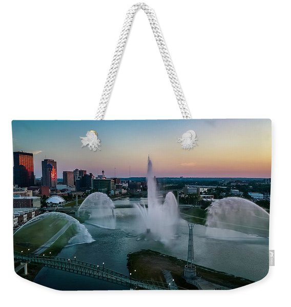 Twilight At The Fountains Weekender Tote Bag