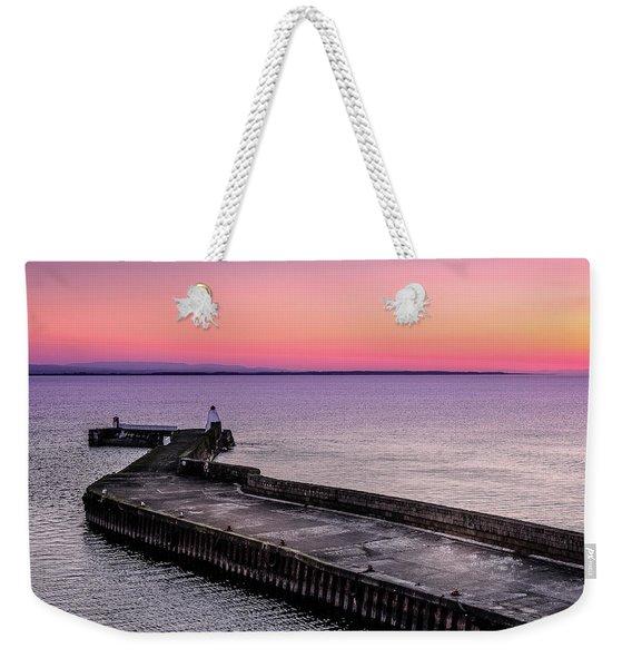 Twilight, Burghead Harbour Weekender Tote Bag