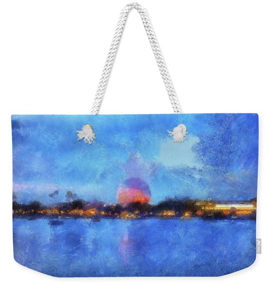Twilight Epcot World Showcase Lagoon Wdw 02 Photo Art Mp Weekender Tote Bag