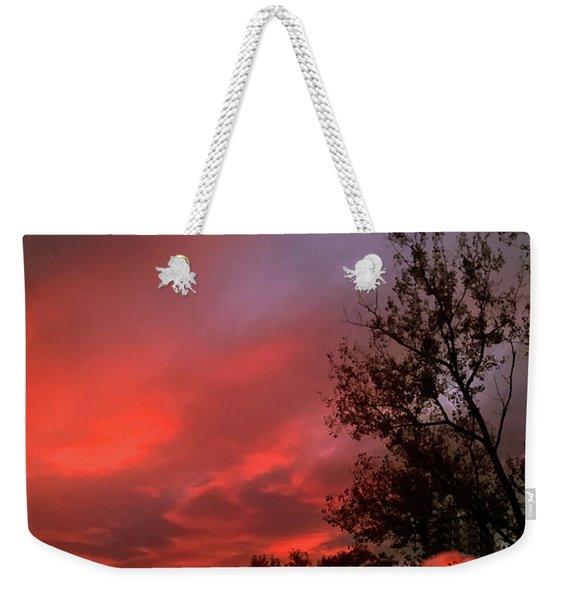 Twilight Fire Weekender Tote Bag