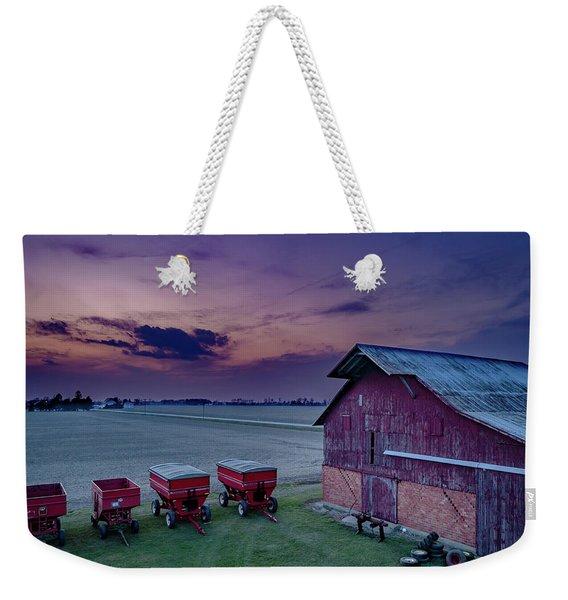 Twilight On The Farm Weekender Tote Bag