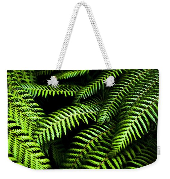 Twilight Rainforest Fern  Weekender Tote Bag