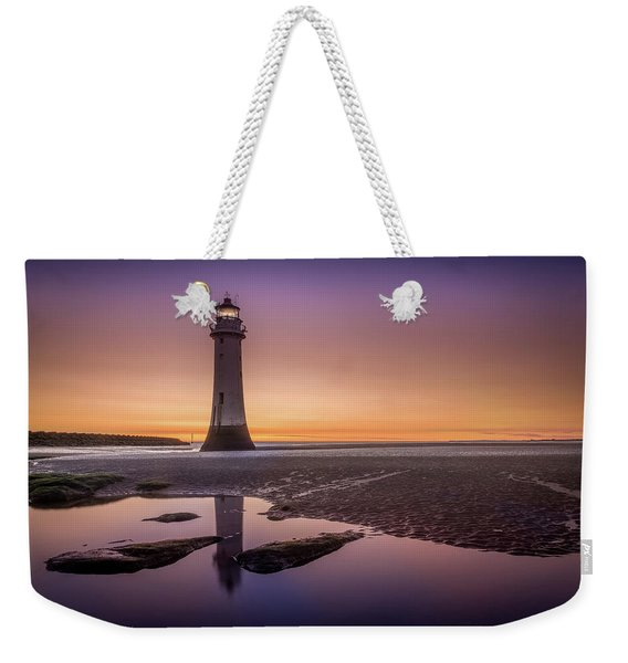 Twilight Reflection, New Brighton Lighthouse Weekender Tote Bag