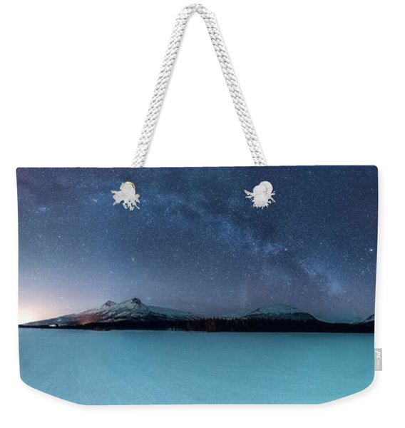 Twin Eruption Weekender Tote Bag