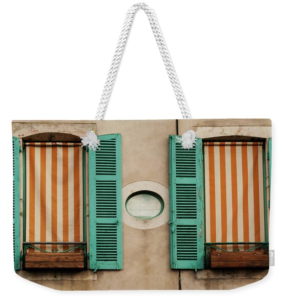 Twin French Windows Weekender Tote Bag