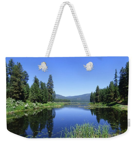 Twin Lakes Reflection Weekender Tote Bag