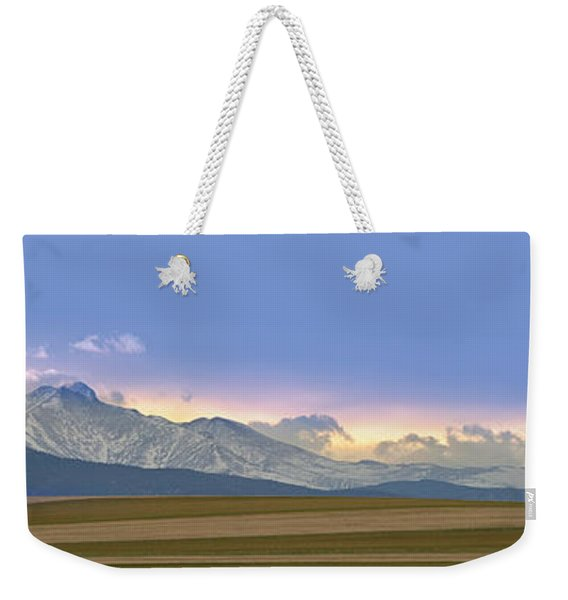 Twin Peaks Panorama View From The Agriculture Plains Weekender Tote Bag