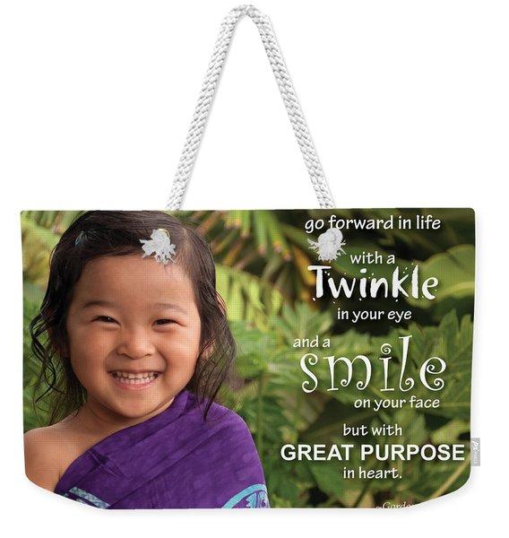 Twinkle Smile Weekender Tote Bag