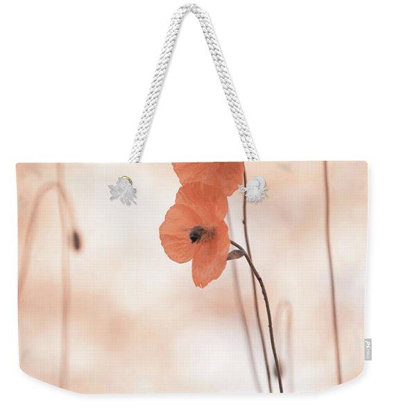 Twins Aliens. Orange Poppies Weekender Tote Bag