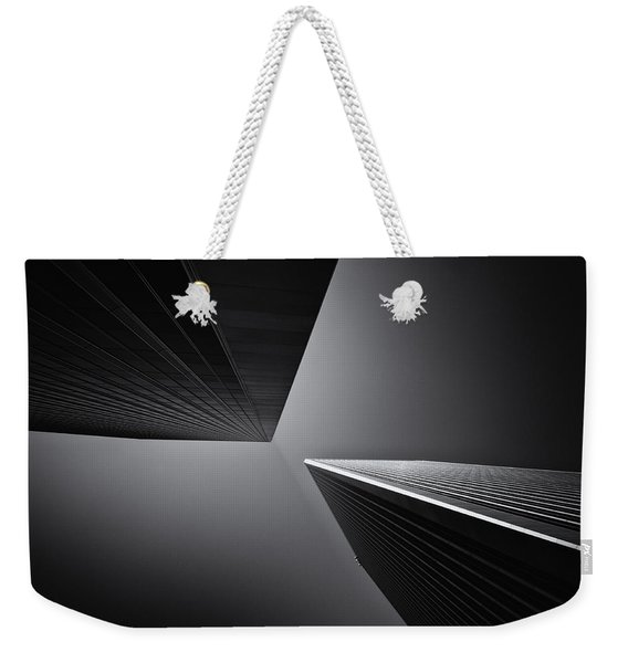 Weekender Tote Bag featuring the photograph Twins by Michael Hope