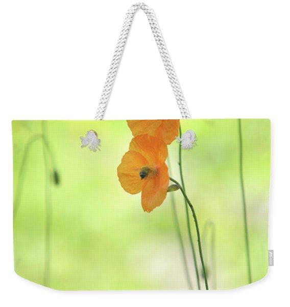 Twins. Orange Poppies Weekender Tote Bag