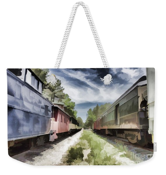 Twixt The Trains Weekender Tote Bag