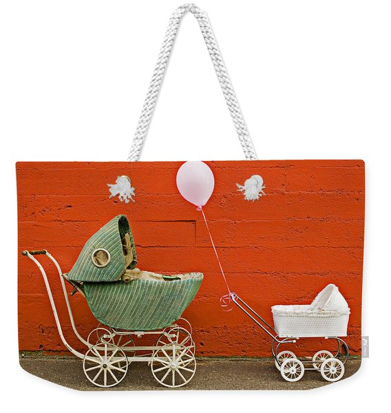 Two Baby Buggies  Weekender Tote Bag