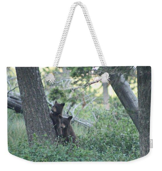 Two Bear Cubs Weekender Tote Bag
