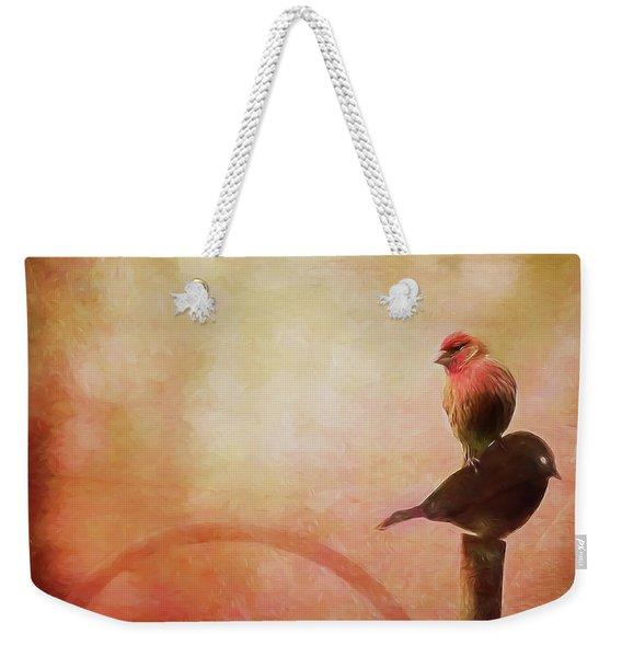Two Birds In The Mist Weekender Tote Bag