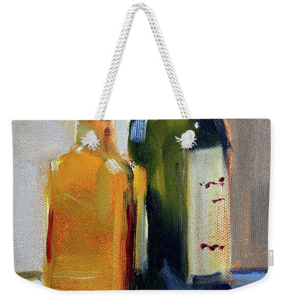 Two Bottles Weekender Tote Bag