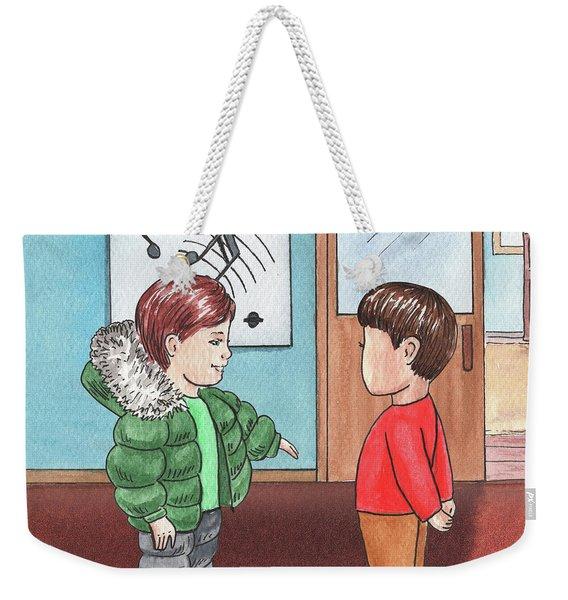 Two Boys At Music School Weekender Tote Bag